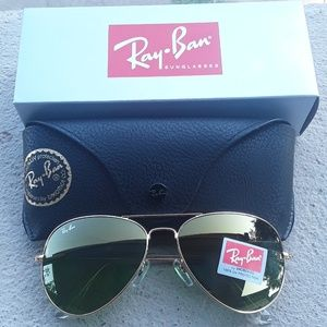 Brand New Army Green RayBan Aviators 62mm